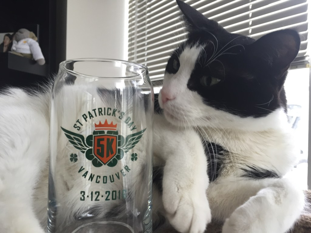 Finishers' Beer Glass from the BMO St. Patrick's Day 5k 2016