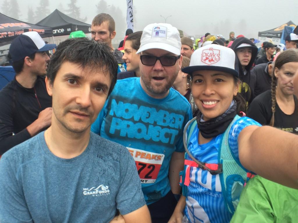 Cuski, Steve and I at the start - 5 Peaks Trail Running Series