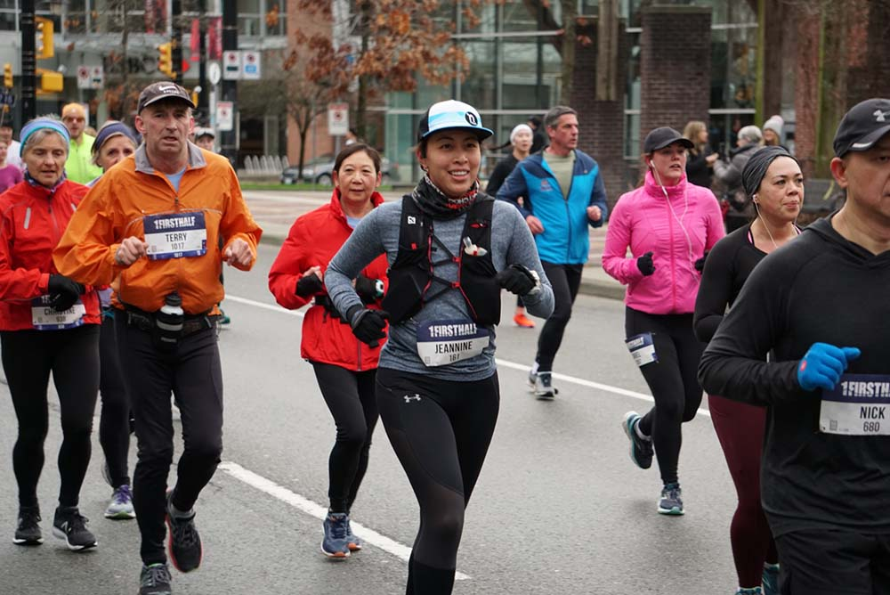 Runners at the First Half Half Marathon, Vancouver