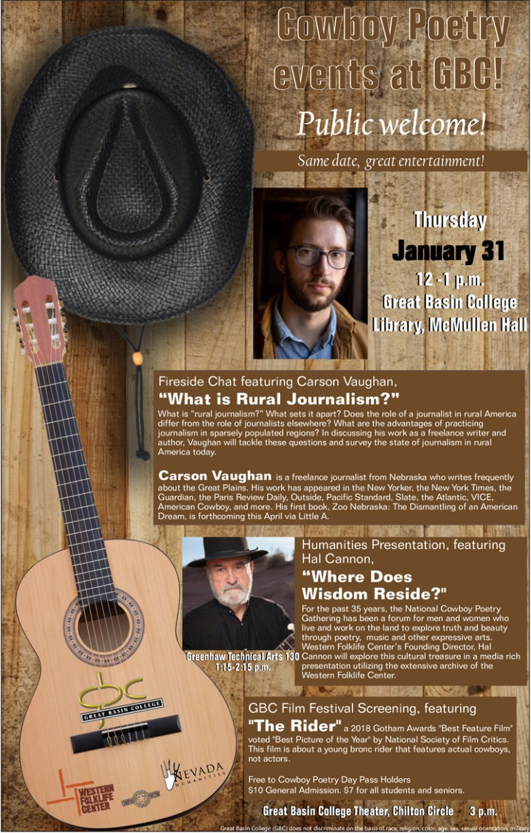 Cowboy Poetry events at Great Basin College - Everything Elko 746e752a9c5