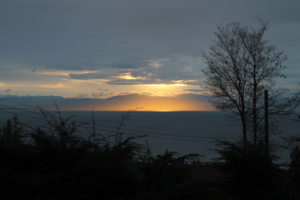 Sunset over the Salish Sea