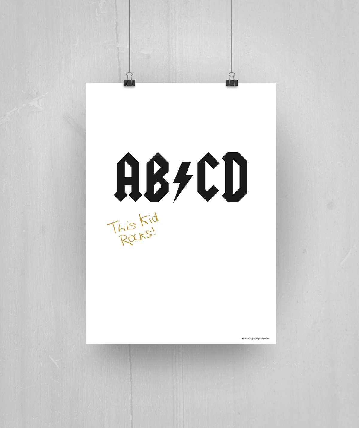 Free Printable: AB/CD - everythingelze.com