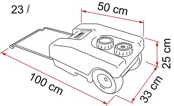 Fiamma Roll Tank 23F (Drinking water)