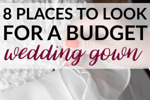 There are many places to purchase a budget wedding gown. Don't be afraid to search or think outside the box to find your perfect budget wedding gown.
