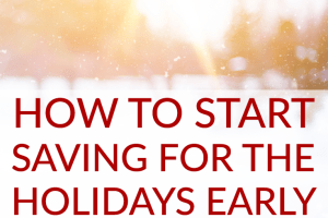 The holidays have just ended, but the smart thing to do would be to start saving for the holidays now. They'll be here before you know it!