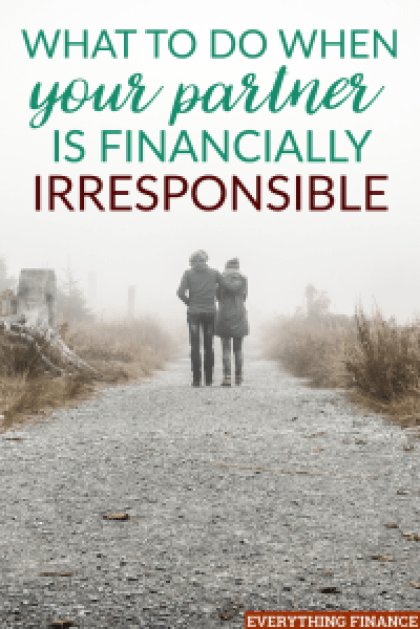 If you've recently discovered your partner is financially irresponsible, here are some steps to take to help resolve the issue and protect your finances.
