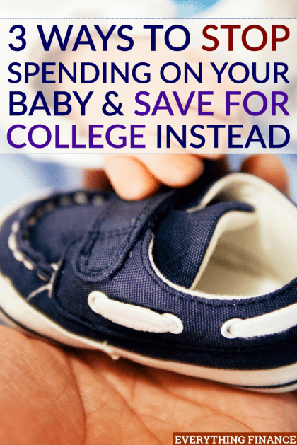 Your baby doesn't need you to spend money on these frivolous things. Instead, save for college. That's the best gift you can give them.