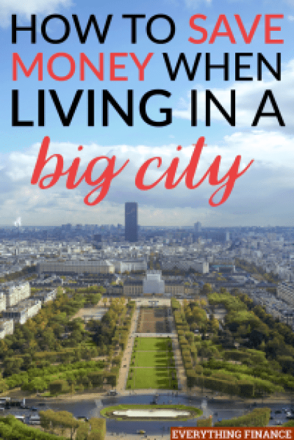 Living in a big city has it's benefits, but it can also be costly. Here are a few ways you can keep living in a big city and save money.