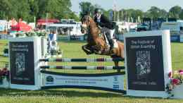 Victoria Bax - Crysto at Gatcombe - such a thrill to be competing there