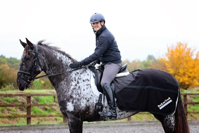Russell Guire of Centaur Biomechanics uses the Back on Track Fleece Exercise Sheet LOw Res.