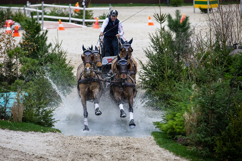 Boyd Exell and his horses are in top form and are the favourites to claim the title once again. Photo: FEI/Eric Knoll.