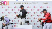 Barbury International Horse Trials - L-R Top three on the ERM podium Gemma Tattersall, Andrew Nicholson and Paul Tapner Photo Credit: Libby Law Photography & Eventridermasters.tv