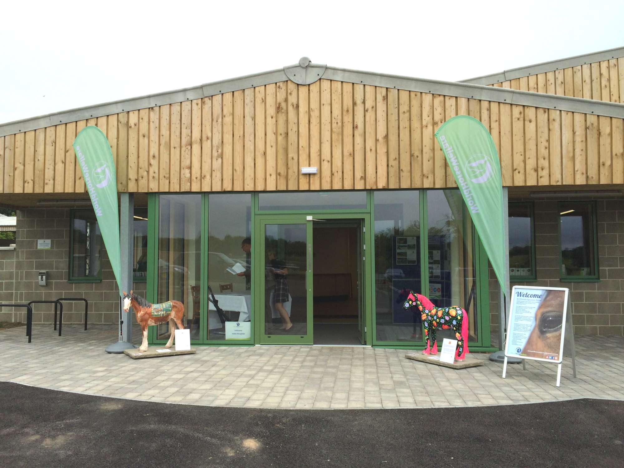 Entrance to the new visitor centre