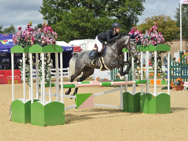 2016 British Showjumping National Championships Nissi Ladell riding six year old mare Exclusive Vant Scaaphof