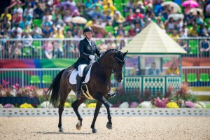 Norway's Ann Cathrin Lubbe and Donatello take the top spot in the Grade III team test, Rio 2016 Paralympic Games day 1 (Jon Stroud/FEI)
