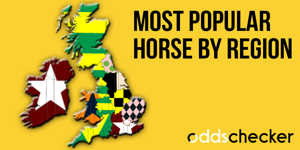 Most backed horses by region in the UK and Ireland