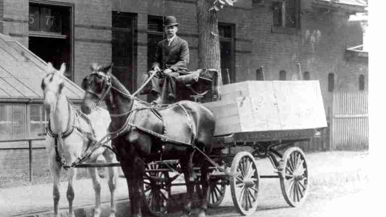 Wilbur F. Young delivery wagon
