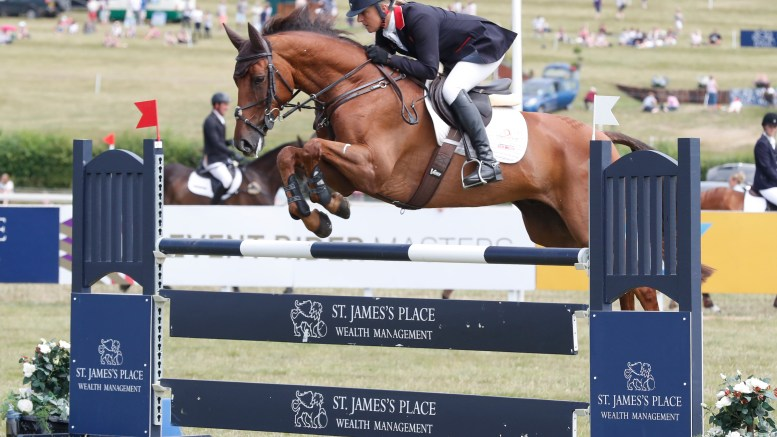 Photography (Adam Dale) – CIC*** leaders after showjumping Kristina Cook and Billy The Red