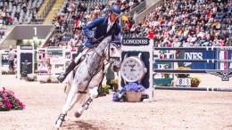 Germany's Daniel Deusser and his new ride, Cornet, scorched to victory at today's opening leg of the Longines FEI World Cup™ Jumping 2017/2018 Western European League in Oslo, Norway. (FEI/Mette Sattrup)
