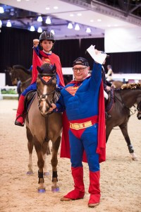 Geoff Billington in his, now famous, Superman Outfit