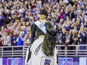 Rio 2016 Olympic gold medallist and triple-European champion Isabell Werth (GER), who will be defending the title she won with the mare Weihegold OLD at the FEI World Cup™ Dressage Final in Omaha (USA) in April of this year, kicks off her campaign at the new season's curtain-raiser in Herning (DEN) this weekend. (FEI/Liz Gregg)