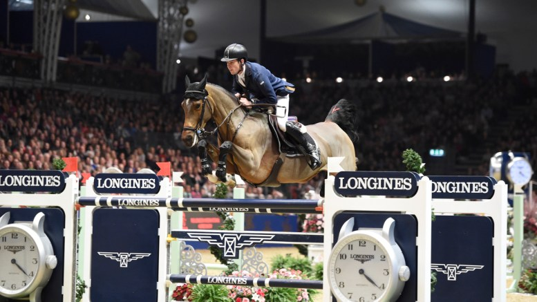 Last year's winner Scott Brash riding Hello M'Lady GBR
