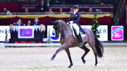 Germany's Dorothee Schneider and Sammy Davis Jr. strutted to victory in the fourth leg of the FEI World Cup™ Dressage 2017/2018 Western European League at Salzburg, Austria today. (FEI/Daniel Kaiser)