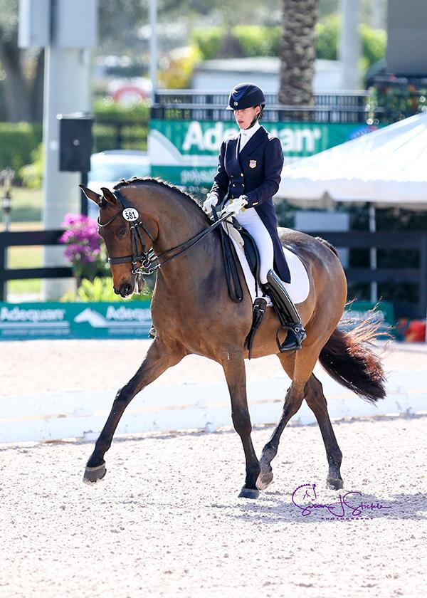 Olivia LaGoy-Weltz and Lonoir capture the CDI5* Grand Prix (to qualify for the special) from last draw.