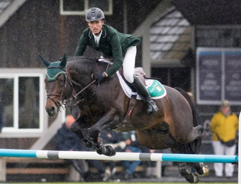 Richie Moloney's brilliant double-clear with Carrabis Z was key to Team Ireland's victory in the Longines FEI Jumping Nations Cup™ of Canada at Langley (CAN). (FEI/Cara Grimshaw)