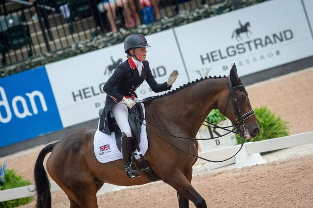 Rosalind CANTER (GBR) and ALLSTAR B - Eventing Dressage - FEI World Equestrian Games™ Tryon 2018 - Tryon, North Carolina, USA - Copyright Jon Stroud Media