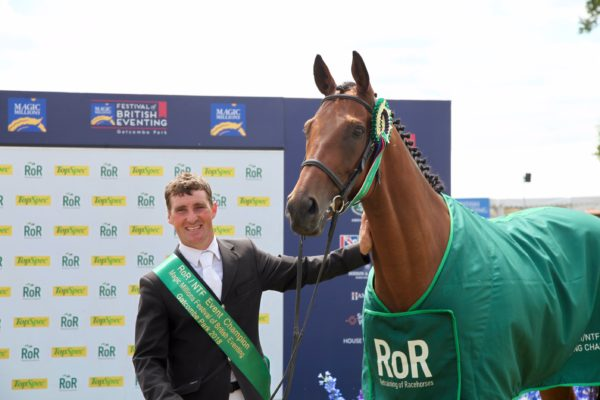 Retrained Racehorse Eventing Championship -Gold Nugget and Andrew Downes winners of NTF prize at Gatcombe
