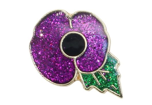 Purple Poppy pin from Pegasus Jewellery