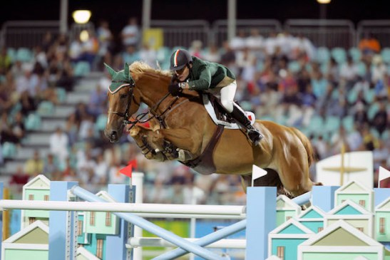 Ireland's Kevin Babington and Carling King competing at the 2004 Olympic Games in Athens, Greece where they placed joint-fourth individually. (FEI/Dirk Caremans)