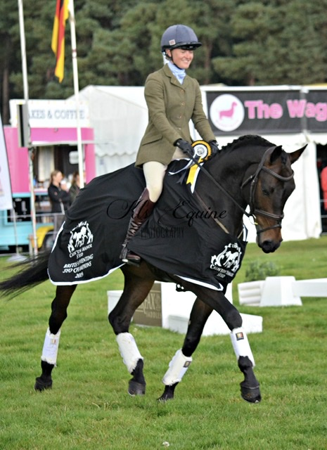 British Eventing Five-Year-Old Championship Horse and rider