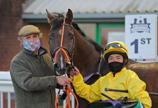 Al-Tabari winning the Royal Cavalry of Oman (0-75) Handicap Stakes