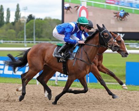 Mazyoonah wins the Follow @AROracing on Instgram (0-80) Handicap Stakes over 1m1f104y at Wolverhampt ridden by Rossa Ryan ©Debbie Burt - Equine Creative Media