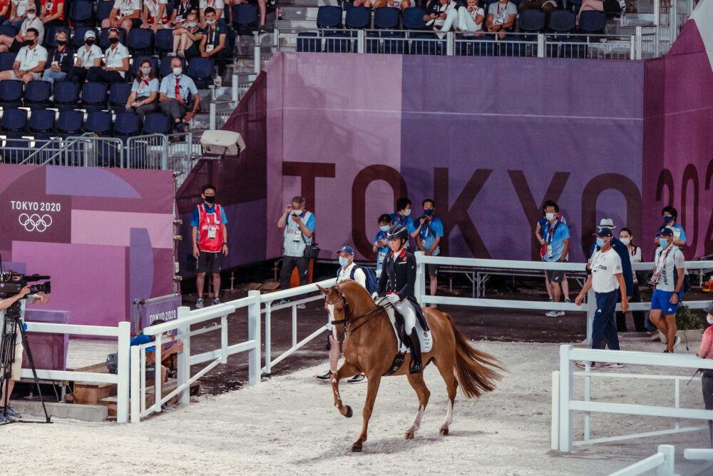 Charlotte Dujardin and Gio at Tokyo 2020 (FEI/Christophe Taniere)