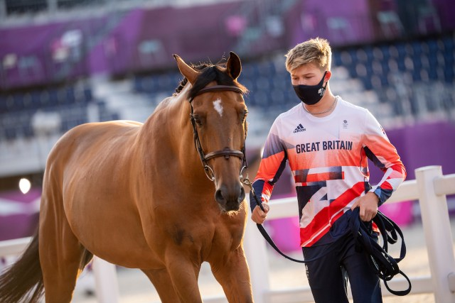 Harry Charles (GBR) and Romeo 88 - travelling reserve - Jumping – 1st Horse Inspection - Image Copyright Jon Stroud Media