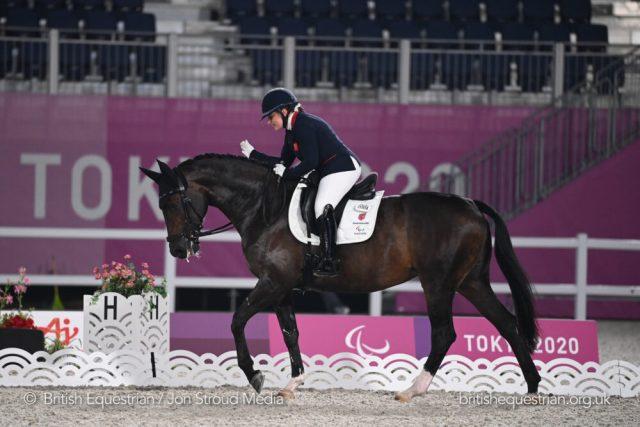 Natasha Baker riding Keystone Dawn Chorus at the Tokyo Paralympics (British Equestrian/Jon Stroud)