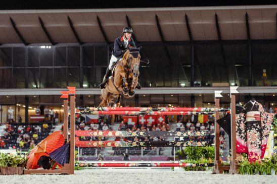 Ben Maher and Explosion W at Tokyo 2020's Individual Final Jump Off (FEI/Christophe Taniere)