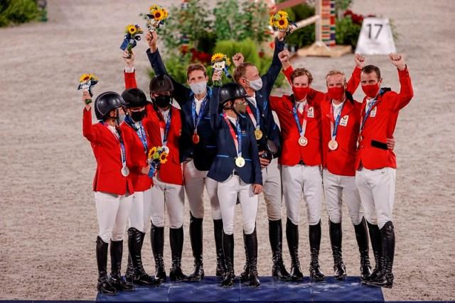 Sweden Gold USA Silver Belgium Bronze Photo Copyright © FEI/EFE/Kai Försterling