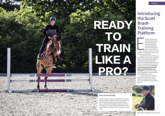Scott Brash training platform link to magazine