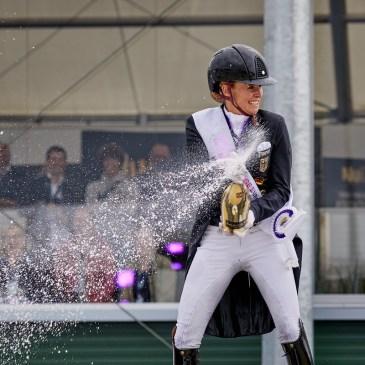 Freestyle. Jessica von Bredow-Werndl, Medal ceremony Photo Copyright © FEI/Liz Gregg