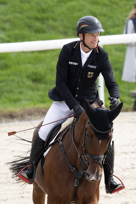 Michael JUNG (GER) rides fischerWild Wave during Show Jumping competition on September 25, 2021 in Avenches , Switzerland .   Photo Copyright © FEI/Richard Juilliart
