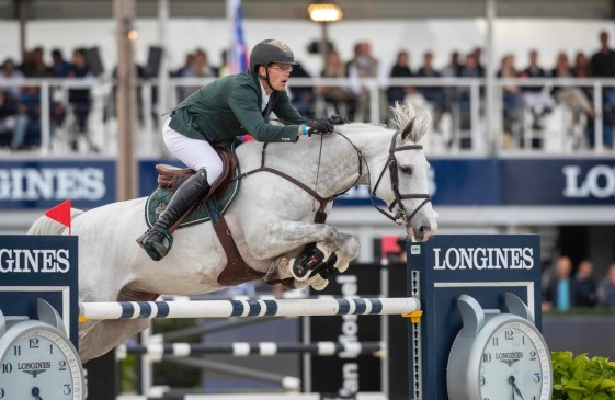 The KWPN mare Just a Dream (VDL Zirocco Blue/Carano), bred by the Nooren family, lived up to her name to take the 7-Year-Old title for German athlete Harm Lahde and owners Gestut Eichenhain at the FEI WBFSH Jumping World Breeding Championship for Young Horses 2021 at Zangersheide Stud in Belgium yesterday. (FEI/Hippo Foto - Sharon Vandeput).