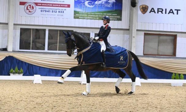 Lara Butler riding Kristjan at Keysoe CD13* 2021