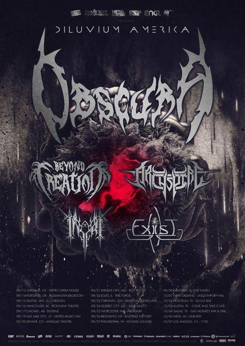 Obscura Divium America Tour