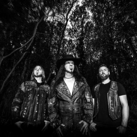 VLTIMAS (L-R): Rune 'Blasphemer' Eriksen, David Vincent, Flo Mounier