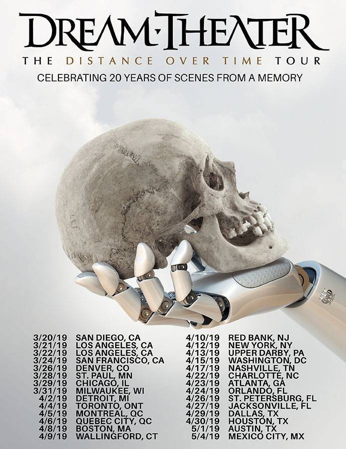 "Dream Theater - ""Distance Over Time"" Tour Dates"