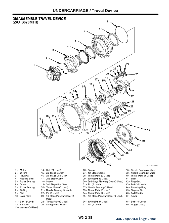 Hitachi 330 Zaxis Lc 2003 Service Manual